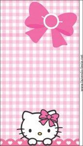 Hello Kitty Free Printable Mini Kit  dibujos y tarjeta
