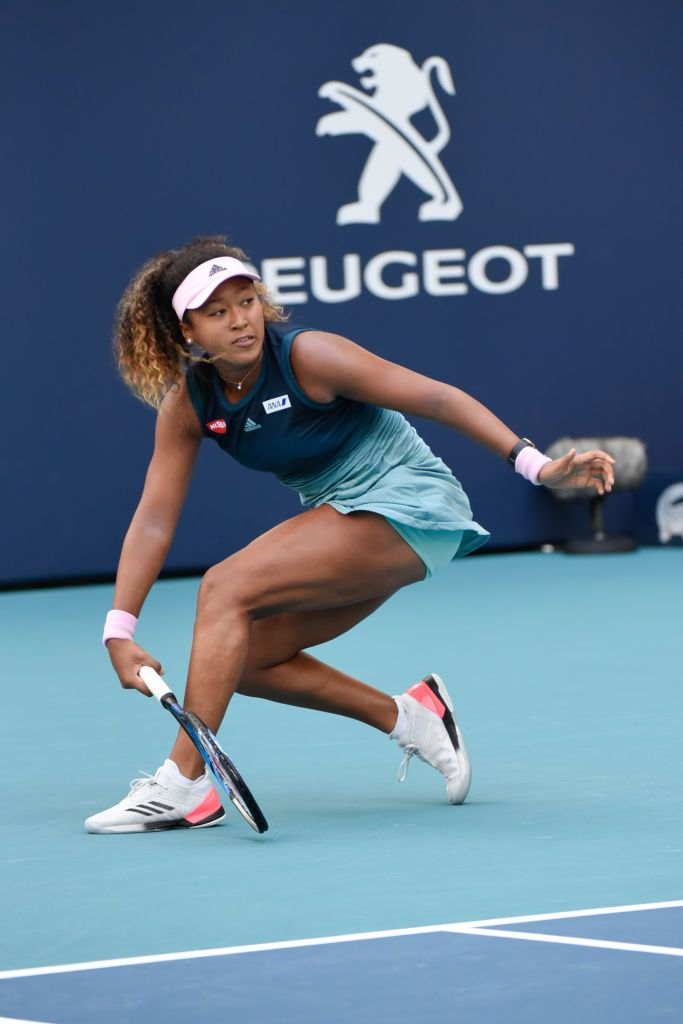 Miami Gardens Fl March 23 Naomi Osaka From Japan Loses Her Third Round Match At The Miami Open On Satu Tennis Players Female Athletic Models Tennis Players