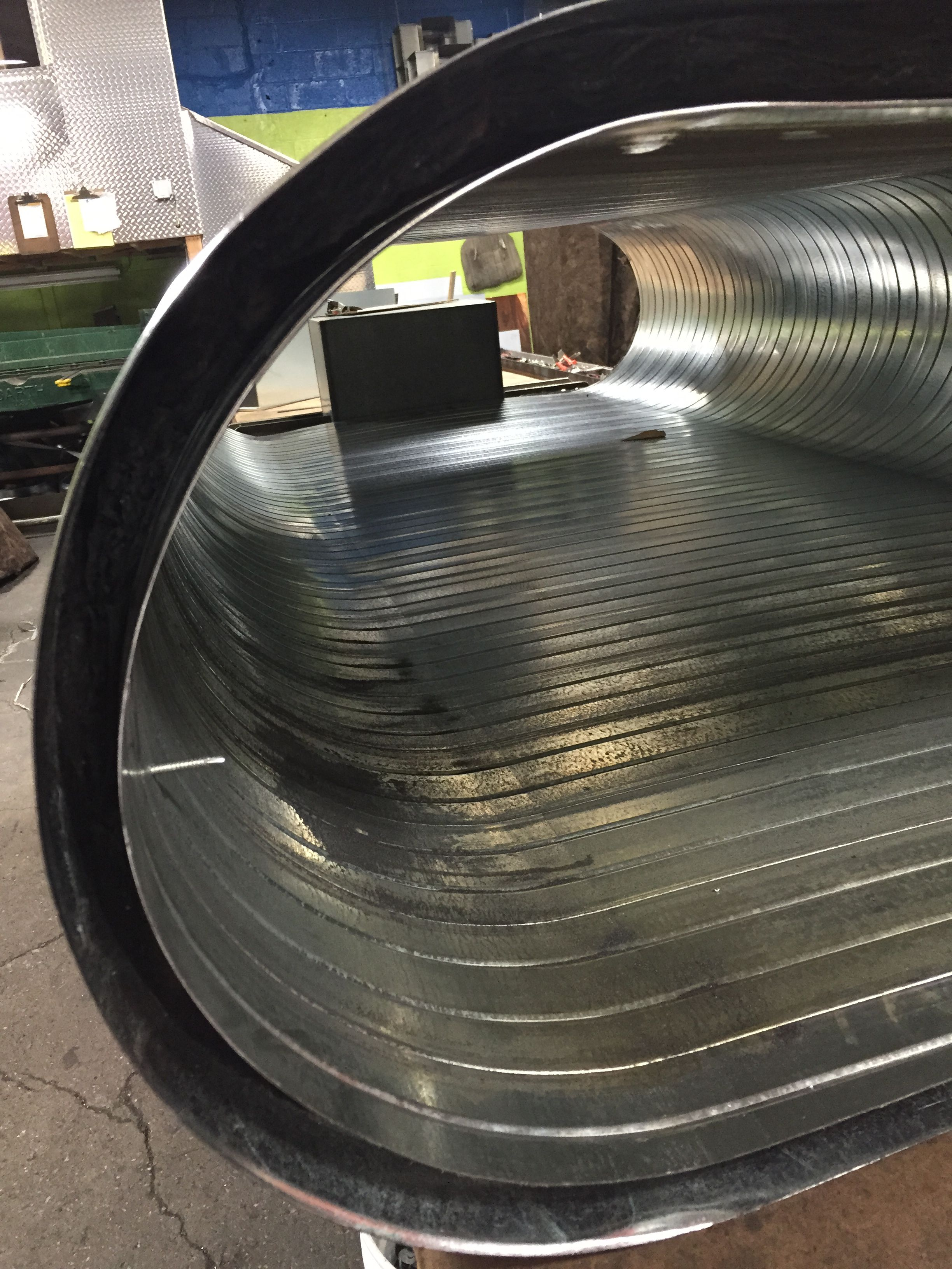 Double wall insulated flat oval spiral duct quot liner