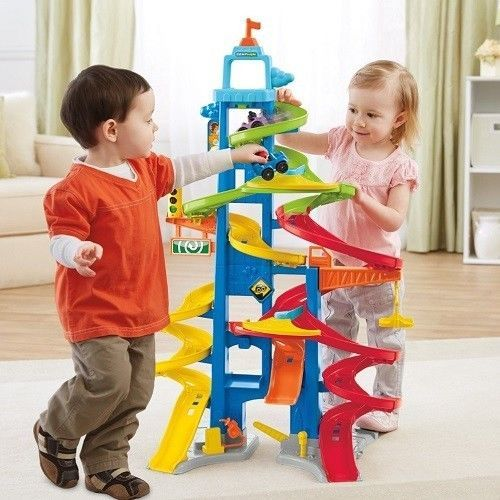 Toy Car Race Track Tower Playset Toddler Kids Plastic Play Sets Spiral Boy Girl Fisher Price Toddler Toys Little People