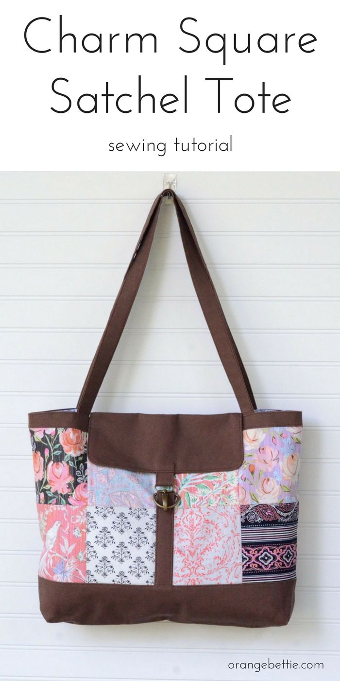 Charm Square Satchel Tote Sewing Tutorial | PATCHWORK | Pinterest ...