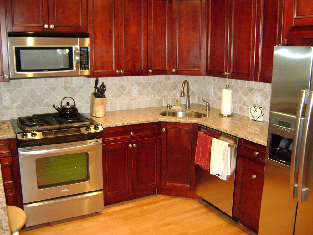 Corner Kitchen Sink Cabinet Designs in 2020 | Corner sink ...