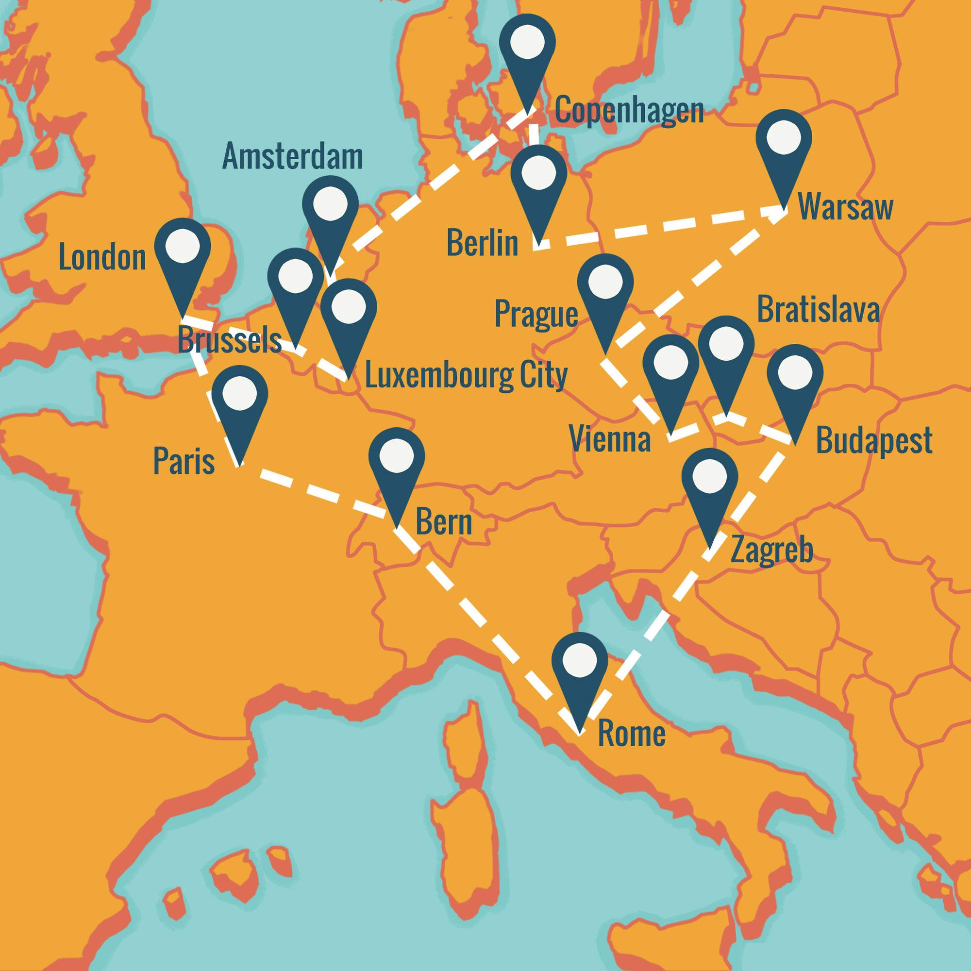 How To Hit Europe S Greatest Cities For Under 500 In One