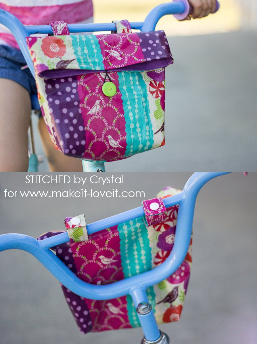 Sew A Handlebar Bag For Your Kid S Bike With Images Handlebar Bag Sewing Projects For Kids Sewing Projects For Beginners