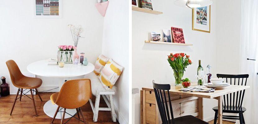 Cómo decorar un comedor pequeño | Comedor pequeño, Mesa abatible y ...