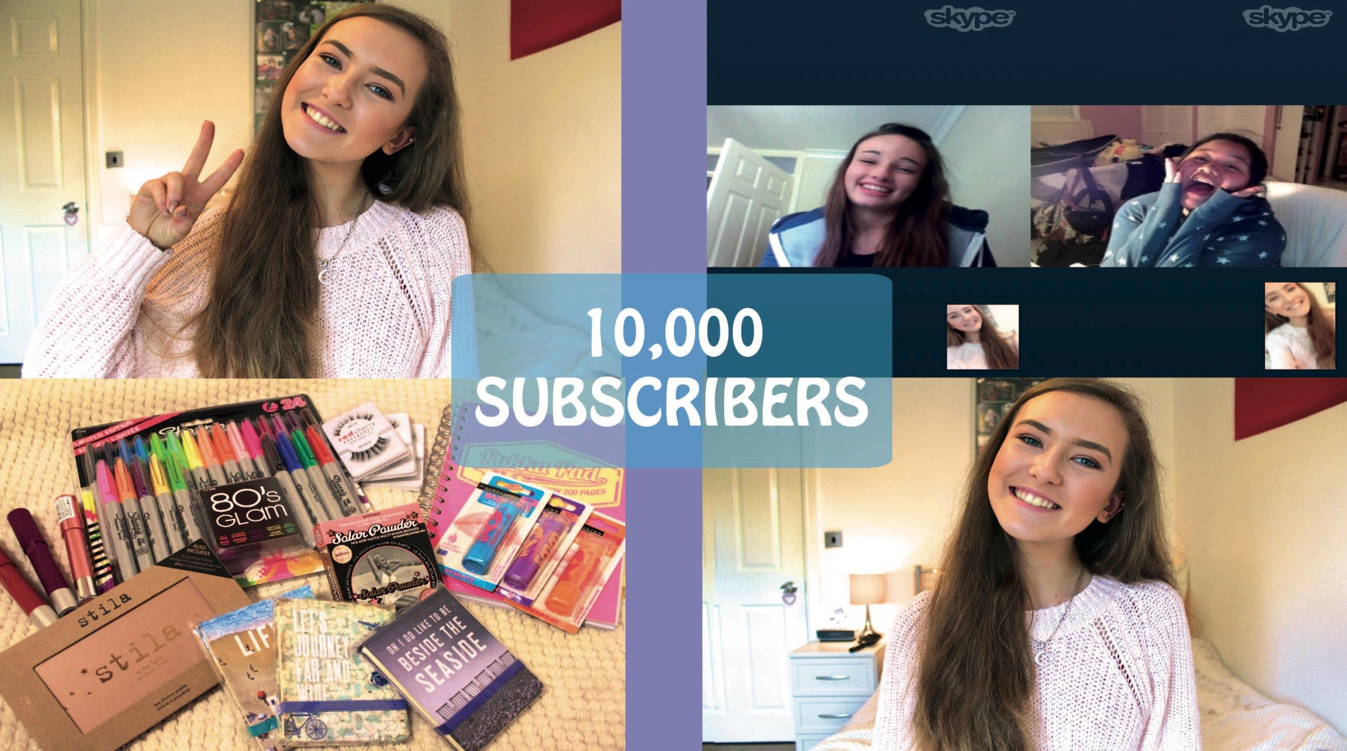 10,000 Subscriber Giveaway! Q&A & Skyping You ♡ Diy