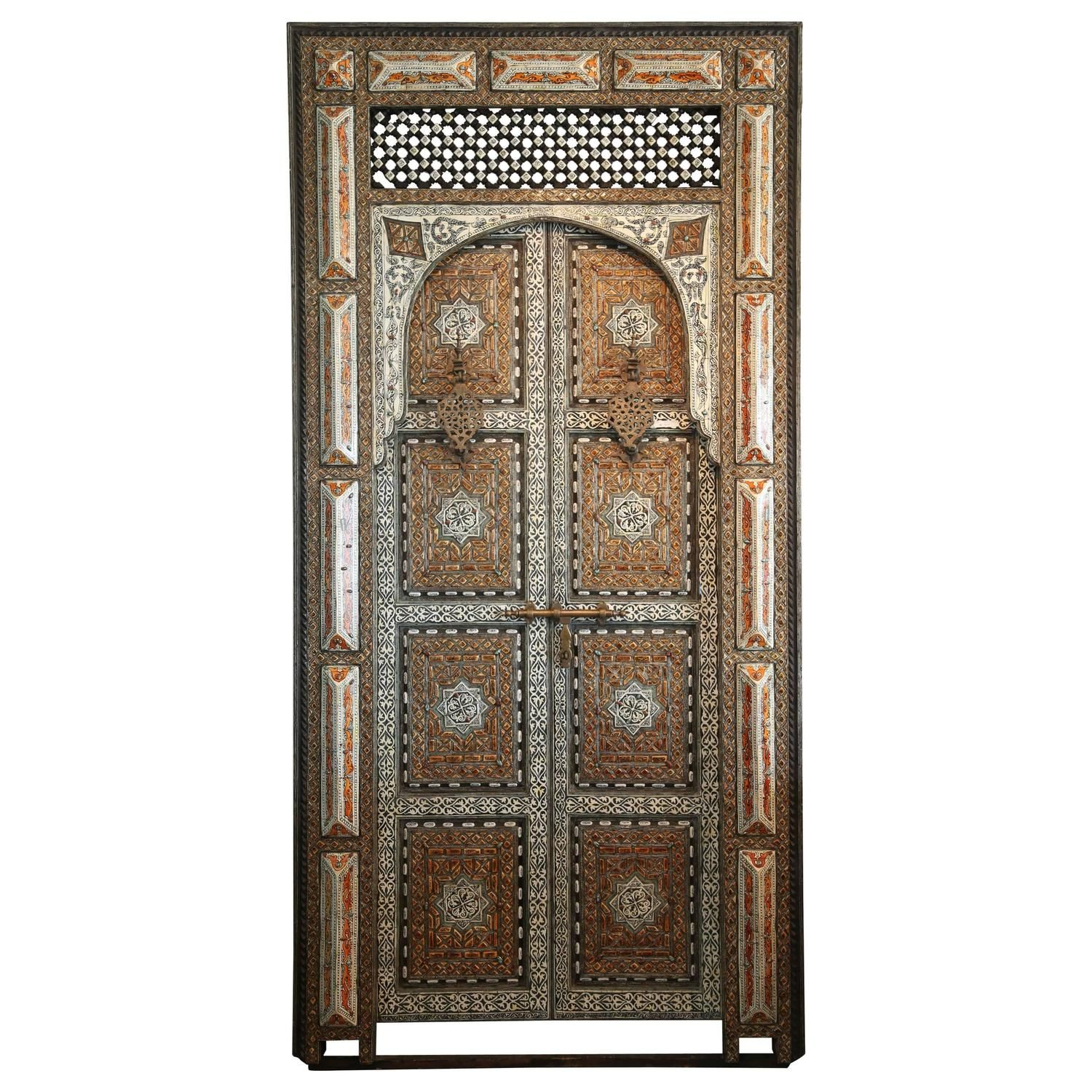 Exquisite 19th Century Moroccan Palace Door - Exquisite 19th Century Moroccan Palace Door Moroccan, Doors And