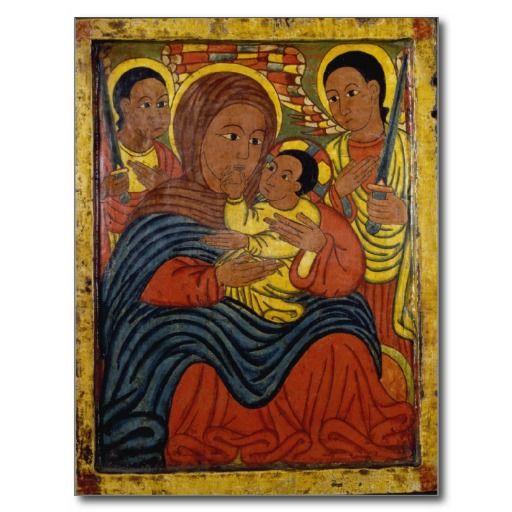Ethiopian Black Madonna with Christ Child Post Card http://www.zazzle.com/ethiopian_black_madonna_with_christ_child_postcard-239847824909464821?rf=238505586582342524
