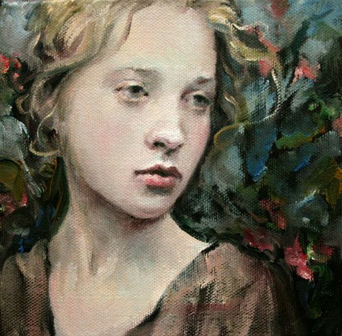"ORIGINAL Oil 6""x6""x1.5' OSWOA by Artist Moonglance Portrait | eBay"