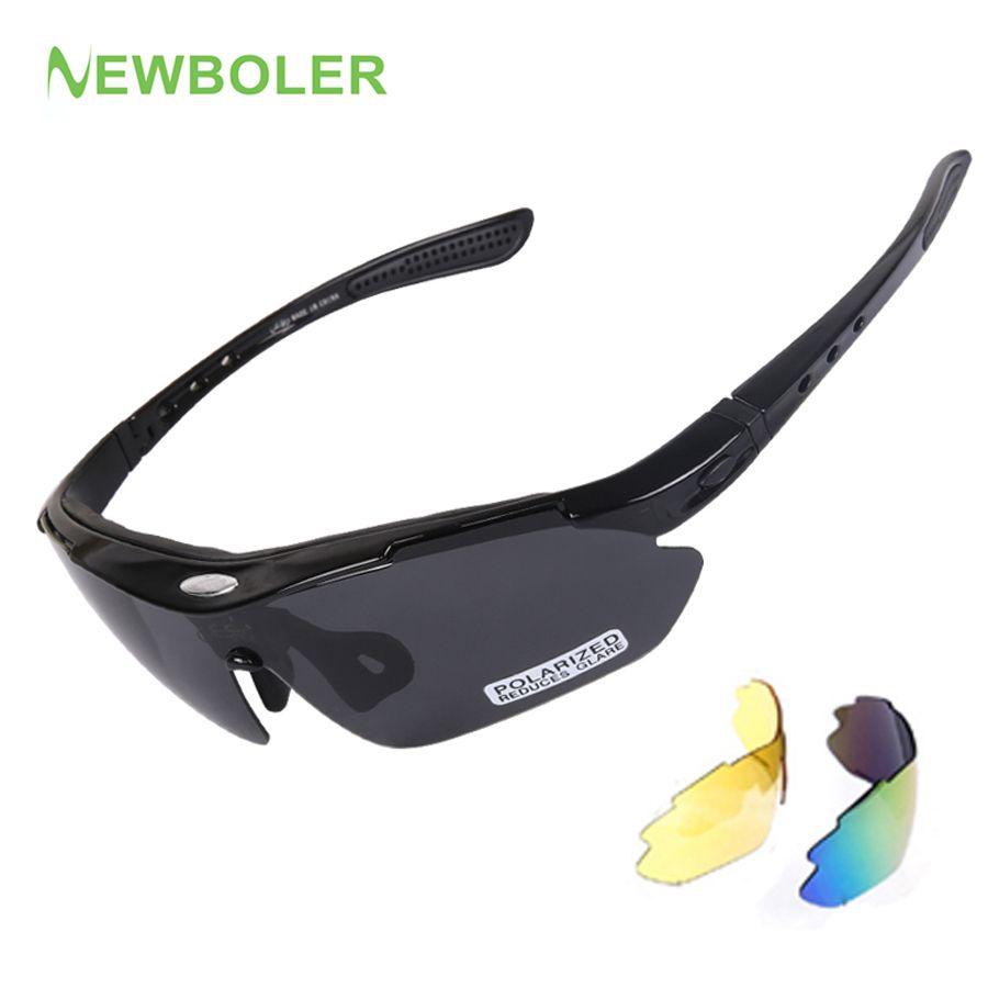 NEWBOLER Mann/Frauen Polarisierte Radfahren Sport Sonnenbrille MTB ...