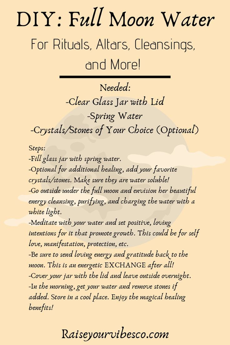 DIY: How To Create Your Own Magical Full Moon Charged Water!