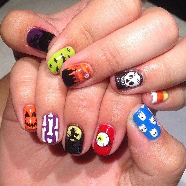 "heynicenails: ""Halloween Nails for @Tylerhammond #nailart ..."