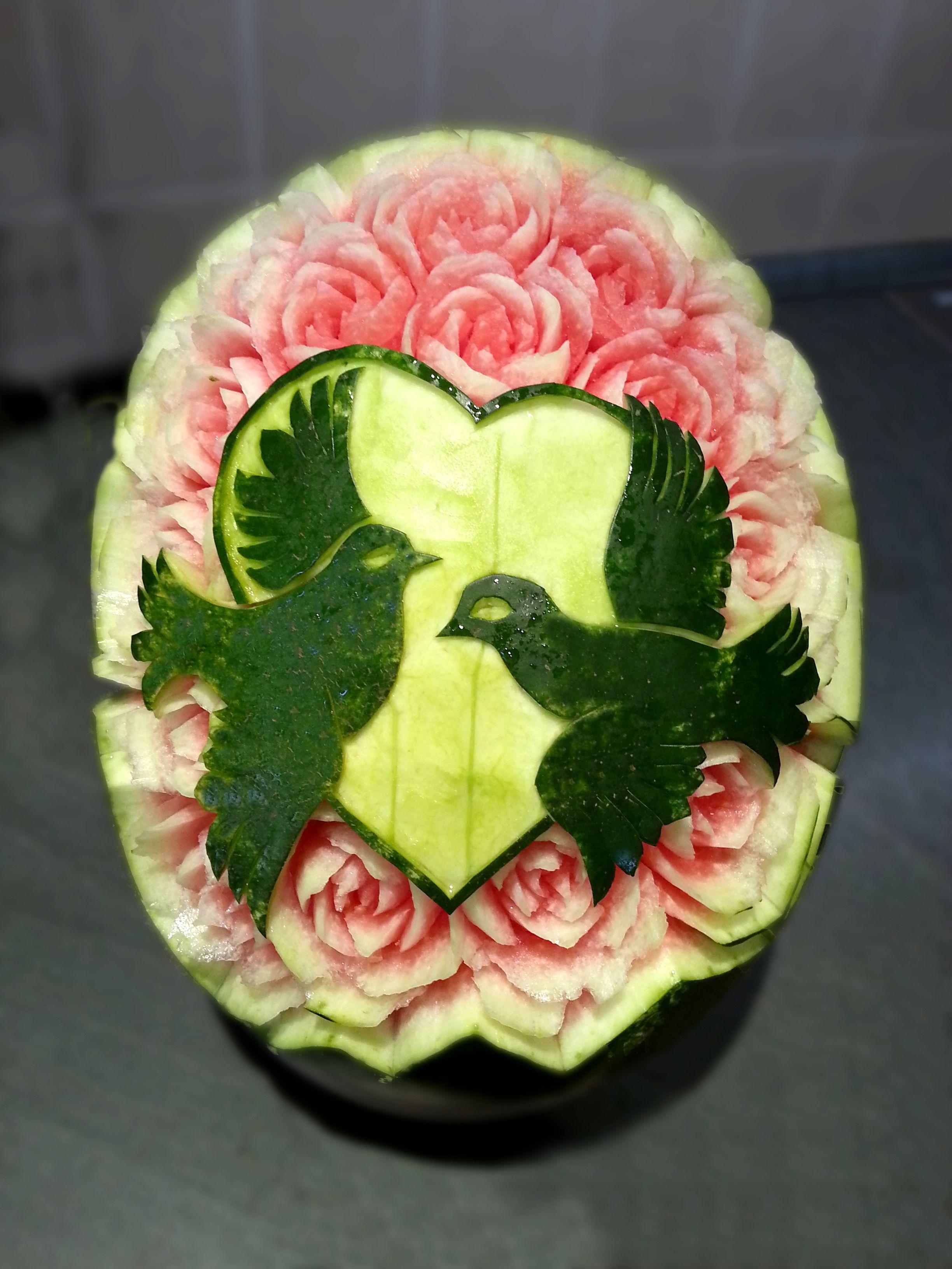 Watermelon carving wedding inspiration fruit vegetable