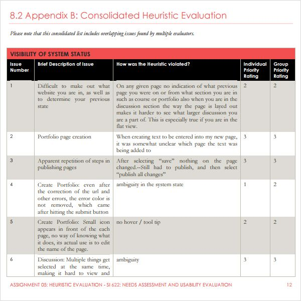 heuristic evaluation example template Google Search – Heuristic Evaluation Template