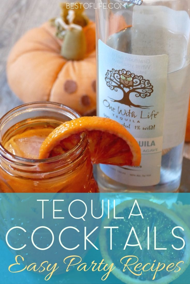 Tequila Cocktails for Parties | One with Life Tequila - The Best of Life