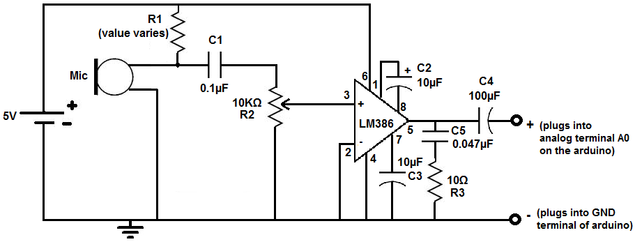 LM386 microphone amplifier circuit (With images