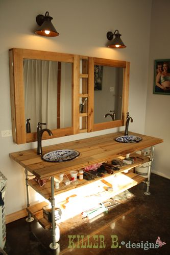 fabulous shelf on bathroom counter | Double Medicine Cabinet: A How-To This is FABULOUS | My ...
