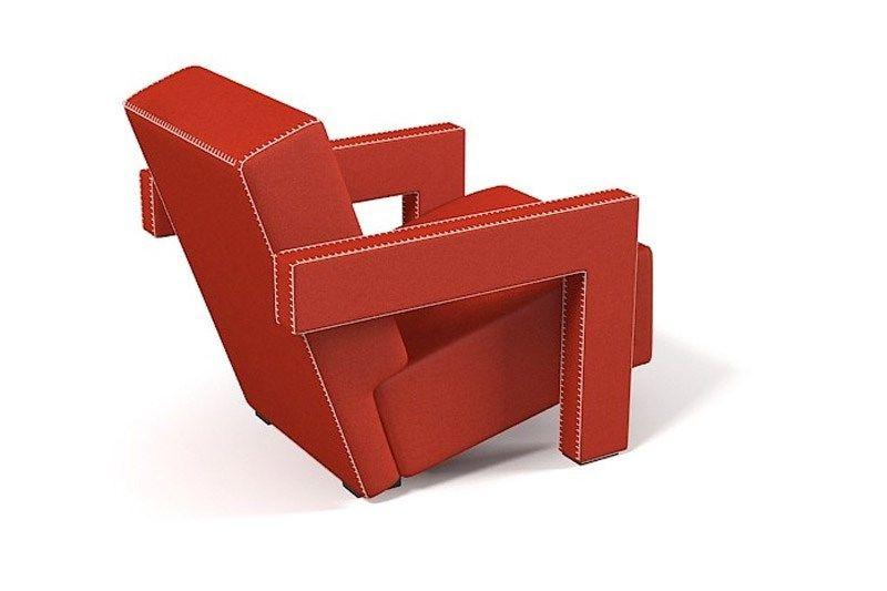 Rood Blauwe Stoel : Utrecht van gerrit rietveld naast de rood blauwe stoel met
