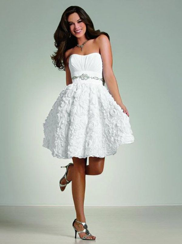 Short White Country Wedding Dresses Short Country Wedding Dress ...