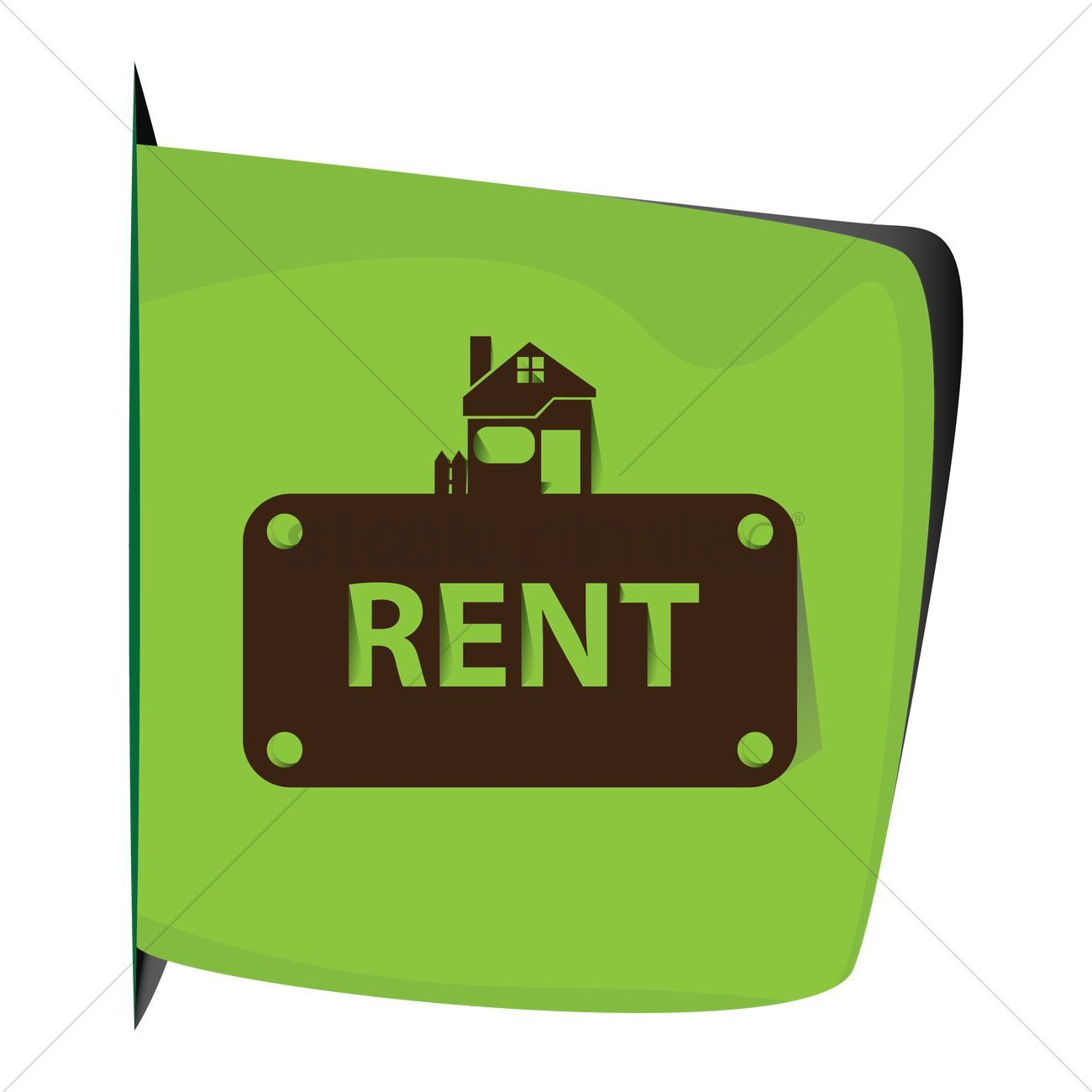 House for rent stock vector
