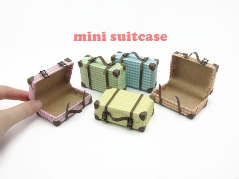 DIY Miniature Doll Mini Suitcase Bag #miniaturedolls