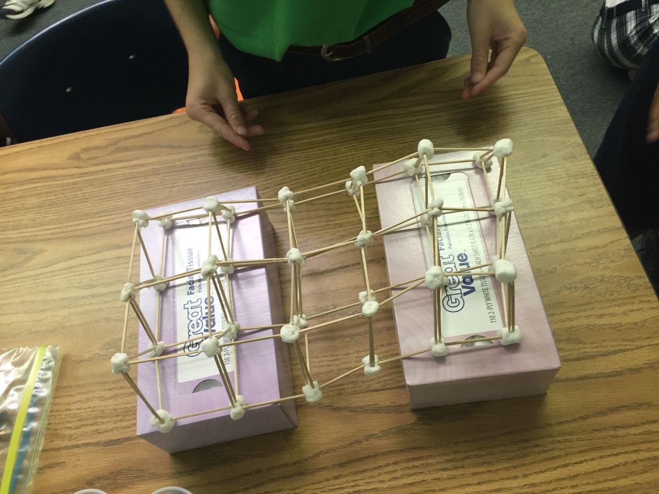 Toothpick And Marshmallow Bridge Student S Work