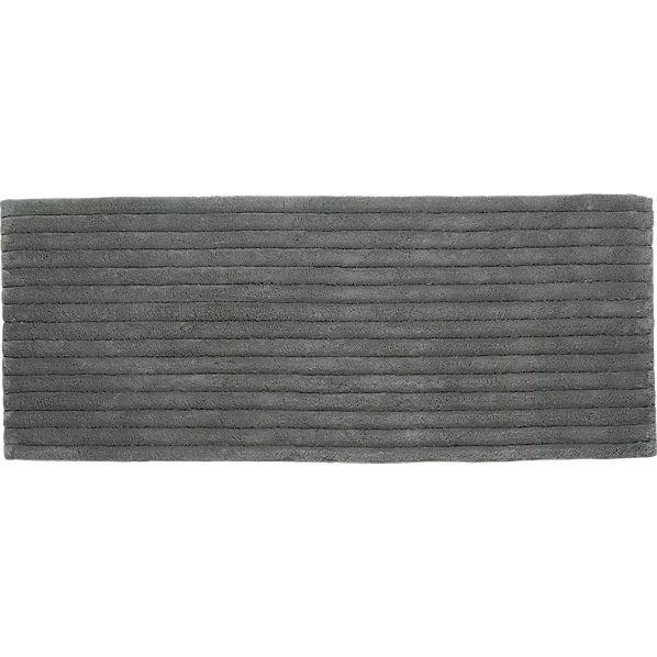 Vertical Stripe Grey Bath Runner Cb2 Bath Mat Good Size