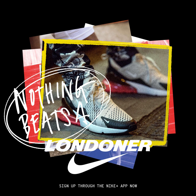 Oeste Nosotros mismos transmisión  Nike Nothing Beats a Londoner | The Dots | 포스터 디자인, 레이아웃, 포스터