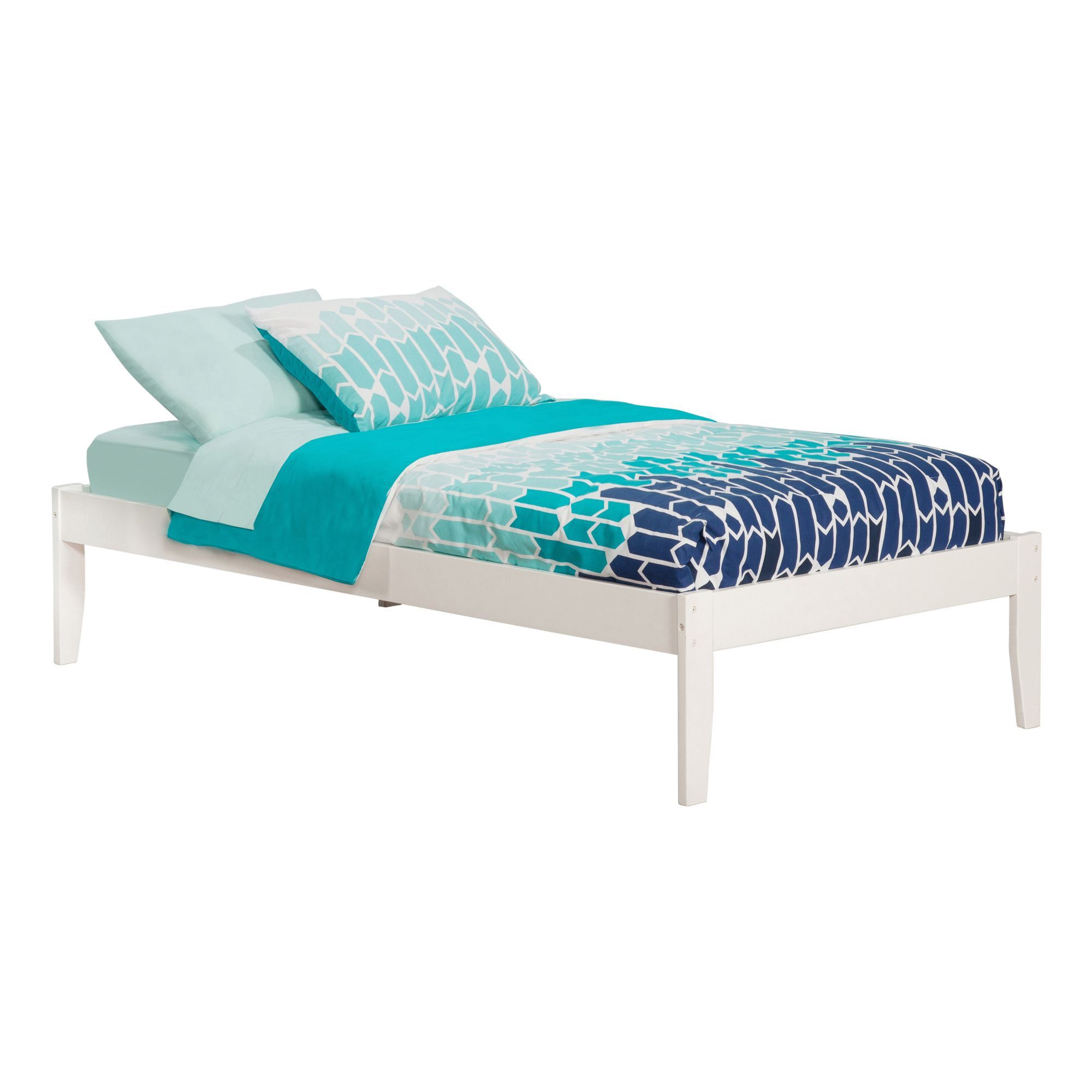 Concord White Twin Open Foot Bed (Size & Color), Atlantic
