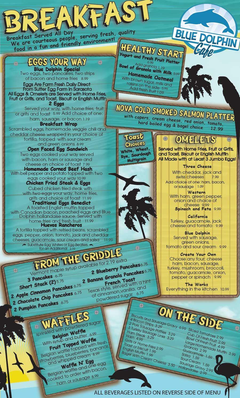 Menus   Blue Dolphin Cafe   Places to eat   Pinterest   Menu