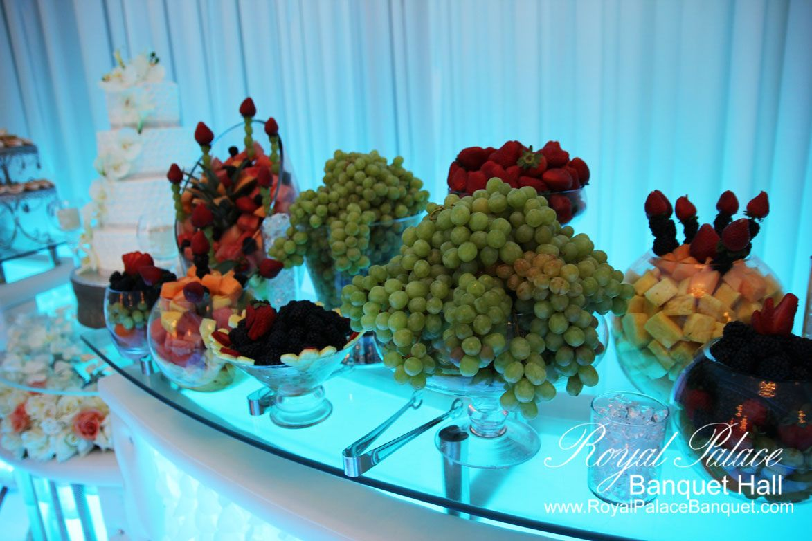 Fruit table at Royal Palace Banquet Hall Glendale CA 818-502-3333.