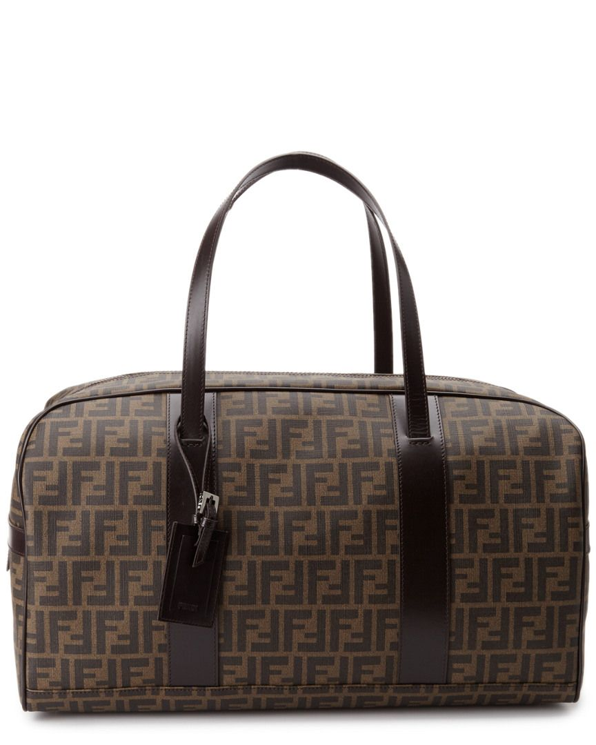 e6c3b3ea8a5 FENDI Zucca Canvas Leather Weekender is on Rue. Shop it now. | Bags ...