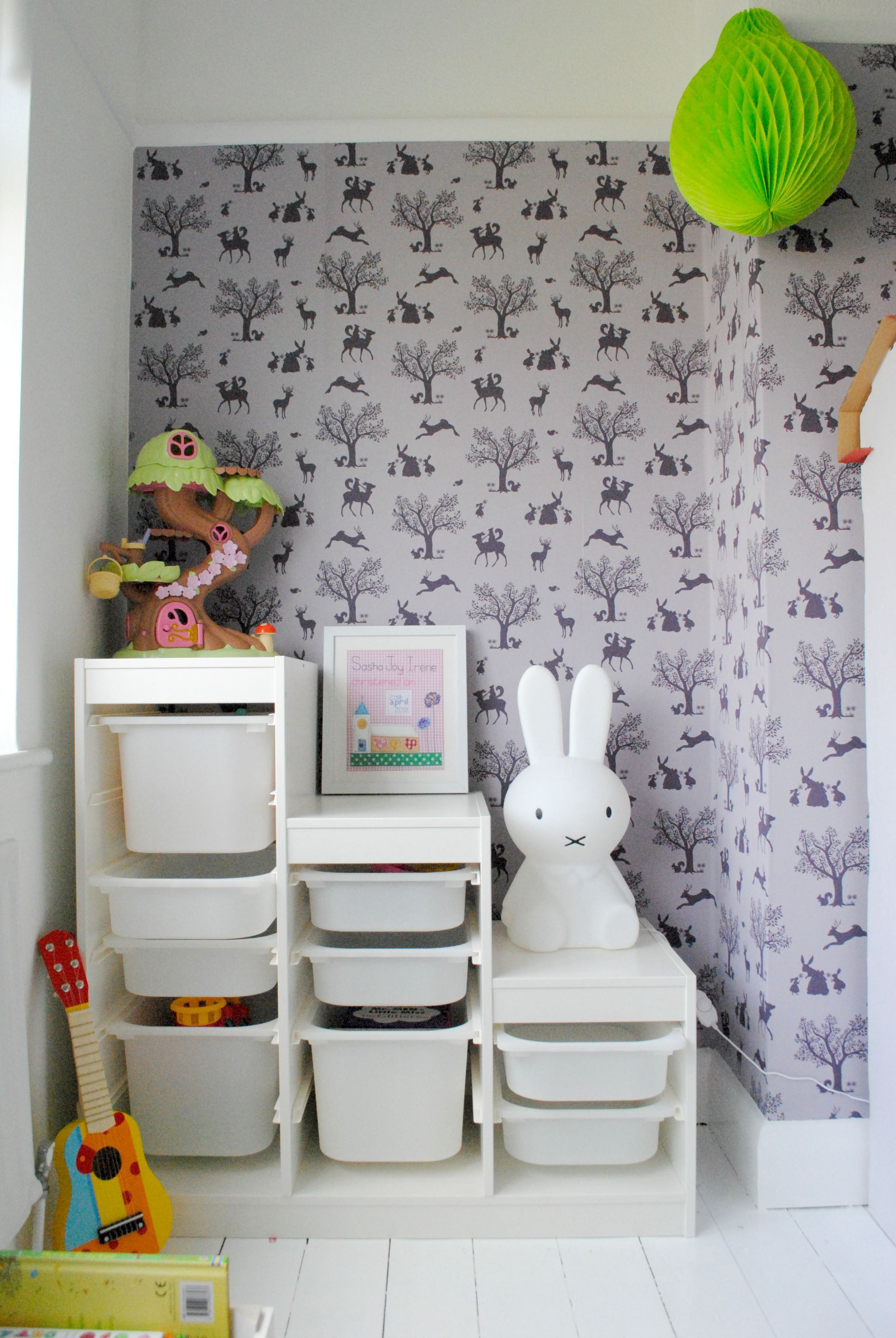 Little Girl Bedroom Inspiration, Using Ikea Trofast Storage System #Ikea