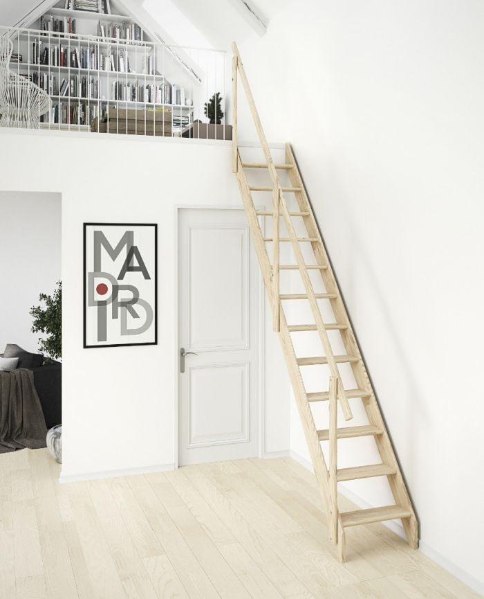 Best Dolle Madrid Wooden Space Saving Staircase Kit Space 400 x 300