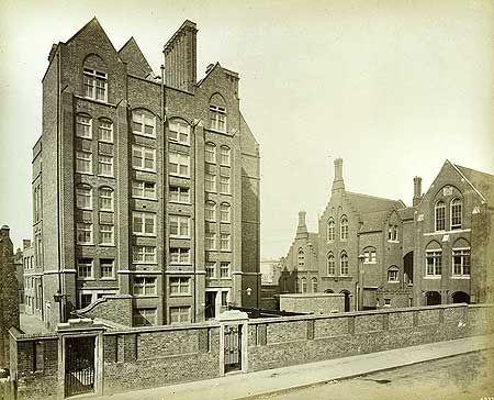 Tottenham Road Board School,  Tottenham Road, Islington, 16 May 1887. Via English Heritage