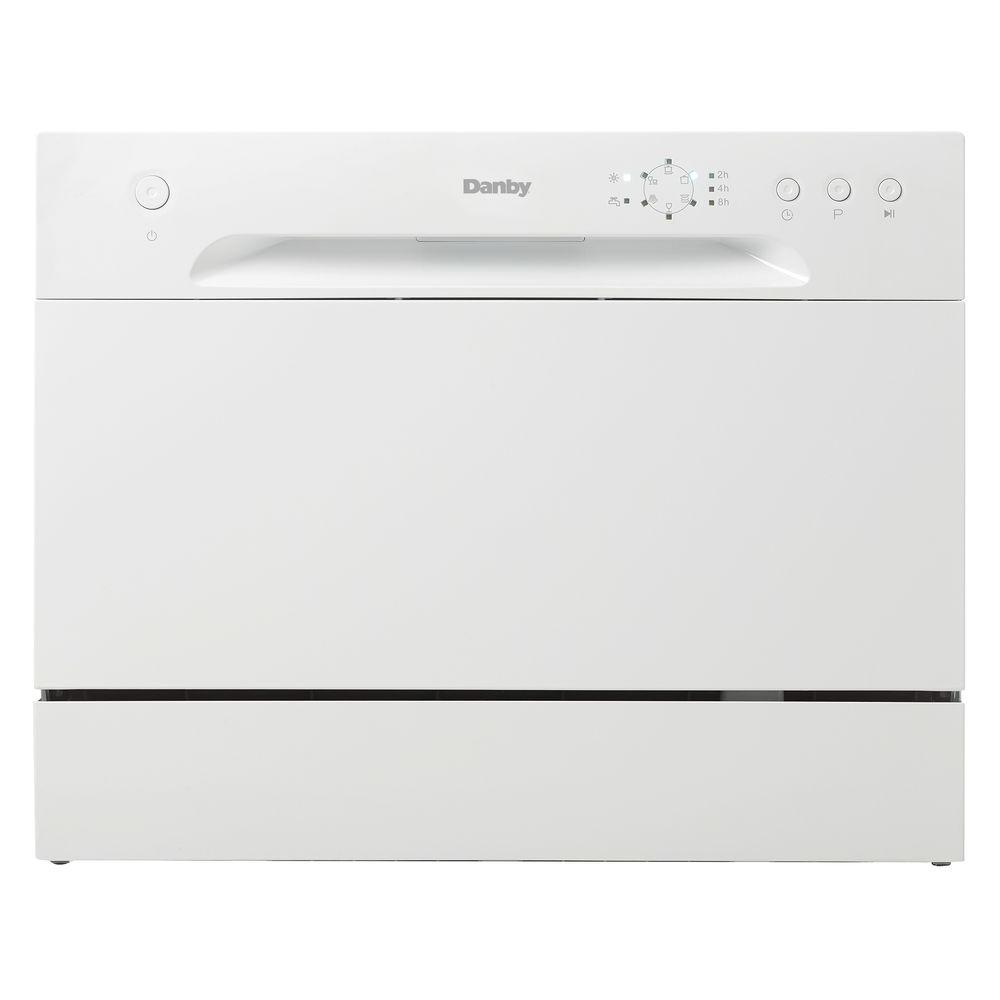Danby Countertop Dishwasher In White With 6 Place Setting Capacity