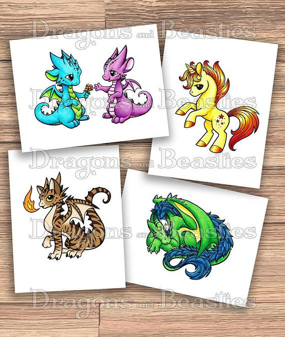 Download And Print My Coloring Book At Home Its Full Of All Sorts Adorable Dragons Beasties That Are Fun For Ages To Color