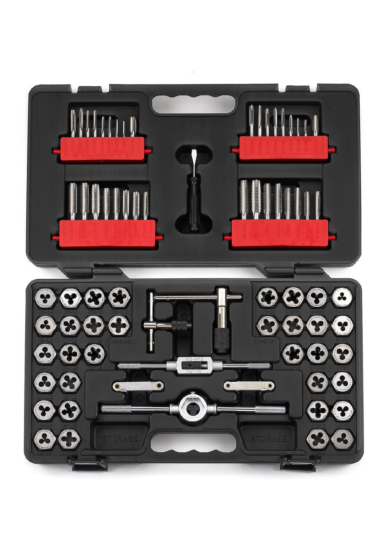 75 Piece Tap Die Carbon Steel Set Long Lasting Tools From Sears Tap Die Hand Tool Sets Tools