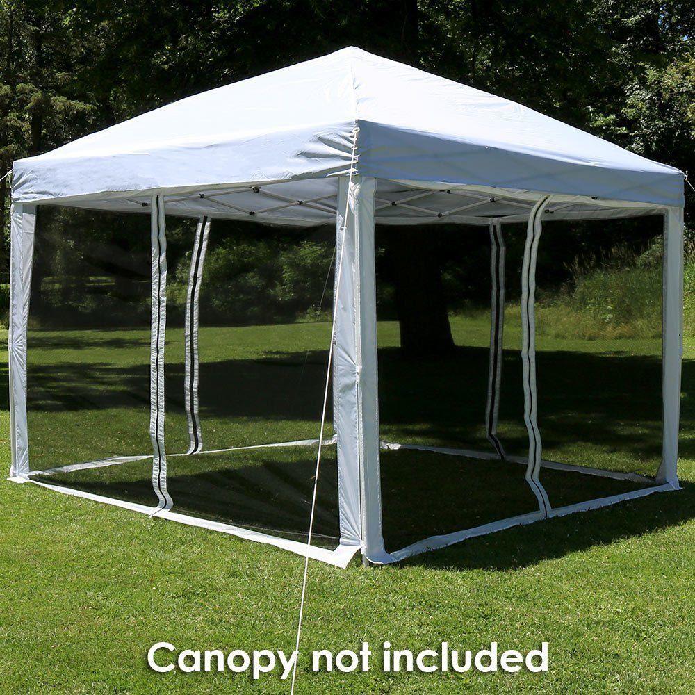 Patio Enclosure Panels Durable 10x10 Canopy Zippered Mesh Sidewall Yard Kit 4pc Patioenclosurepanels Zippe Sunnydaze Decor Outdoor Canopy Gazebo Canopy Tent