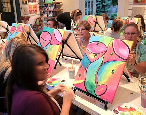 Party Studio Art Painting Parties Kids Adults Wine