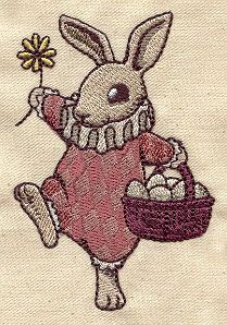 Vintage Easter Bunny | Urban Threads: Unique and Awesome Embroidery Designs