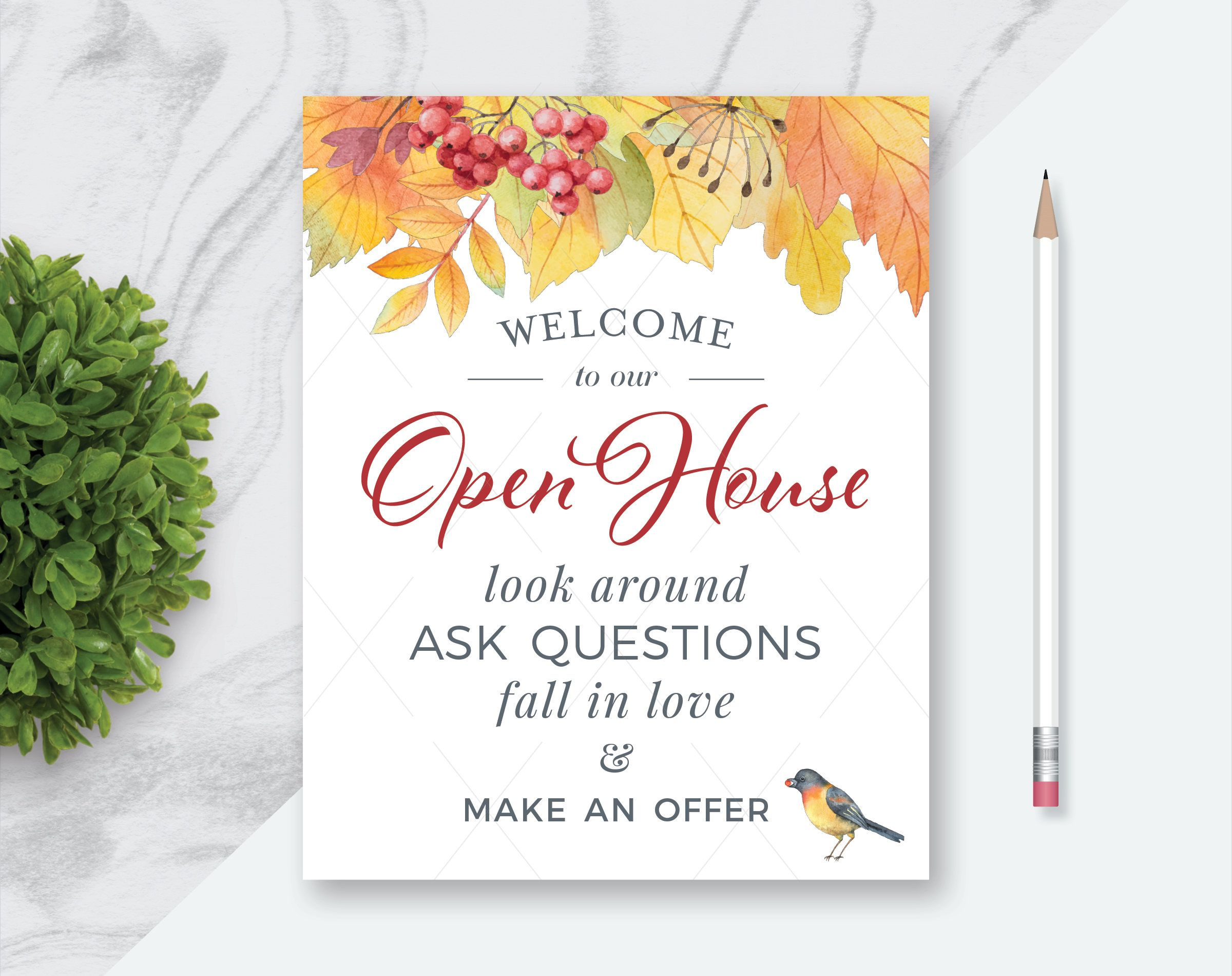 fall real estate welcome to our open house printables welcome, Powerpoint templates