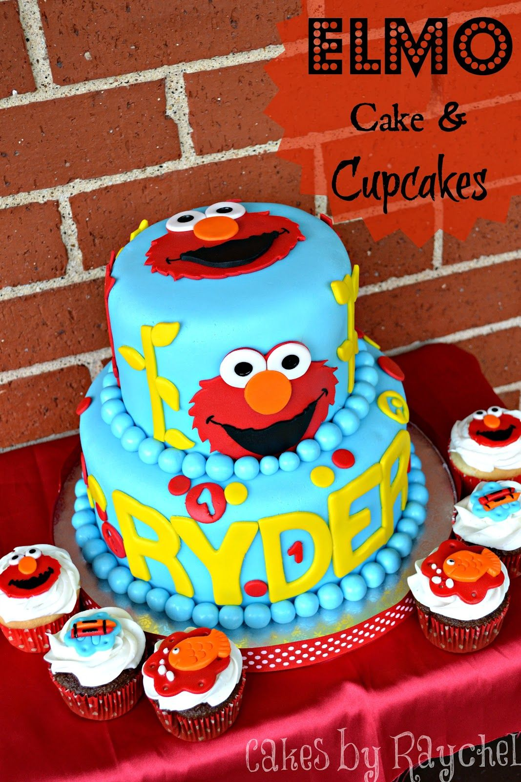 Elmo Cake And Cupcakes Sweet Friday