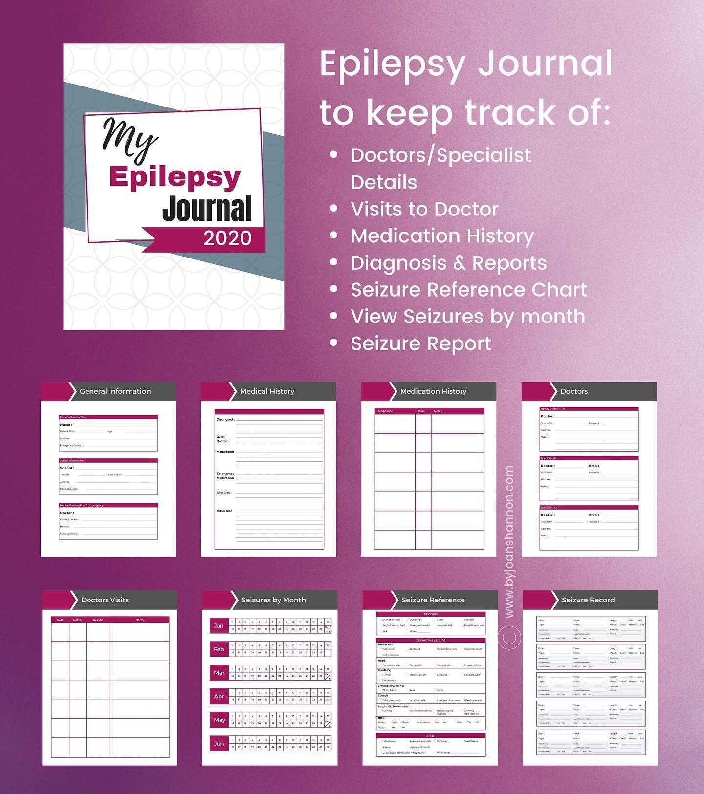 Hey I Was Asked To Design An Epilepsy Journal To Keep