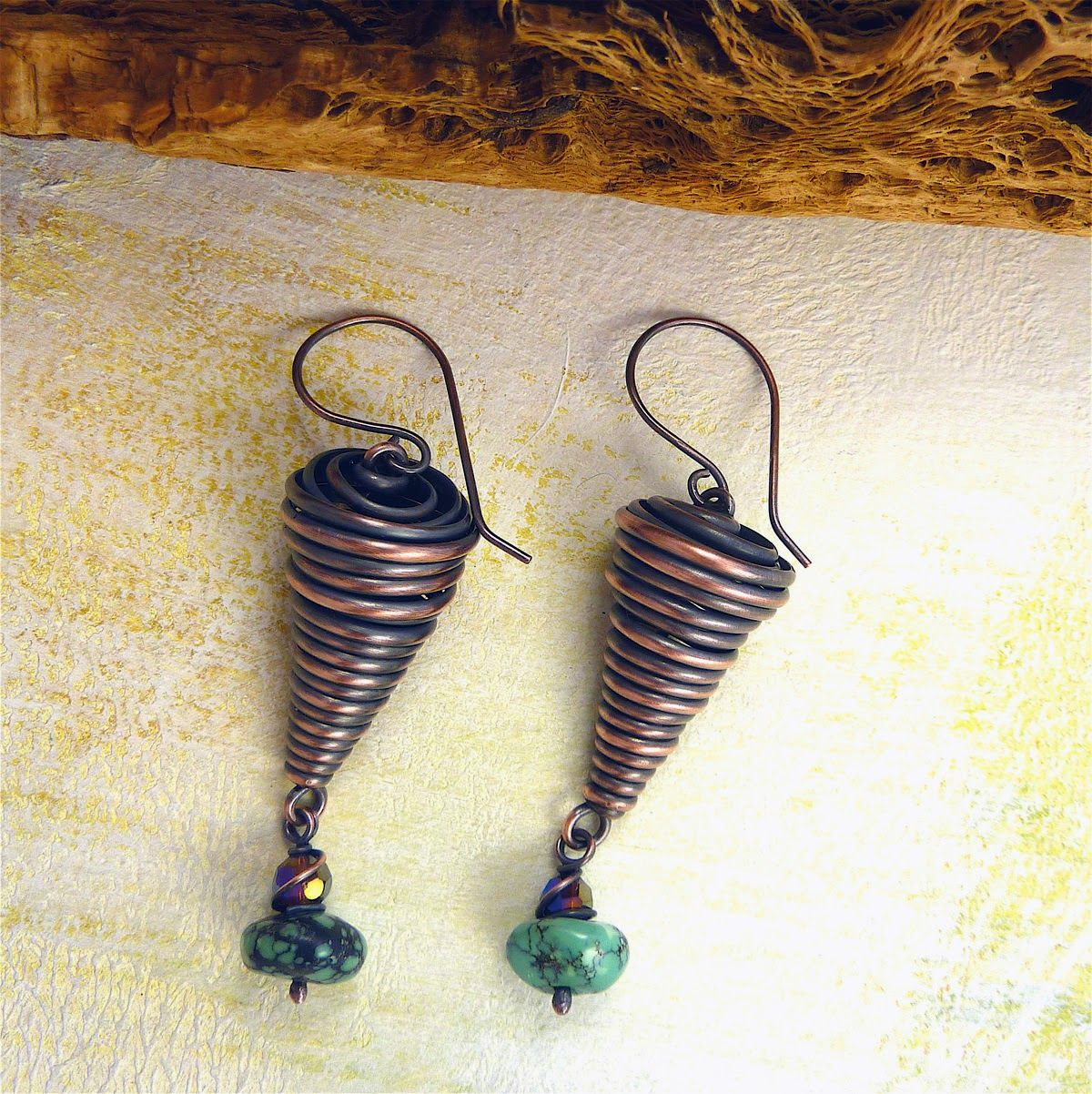 Sharilyn Miller: FREE Tutorial: Copper Cone Earrings! | Ideen rund ...