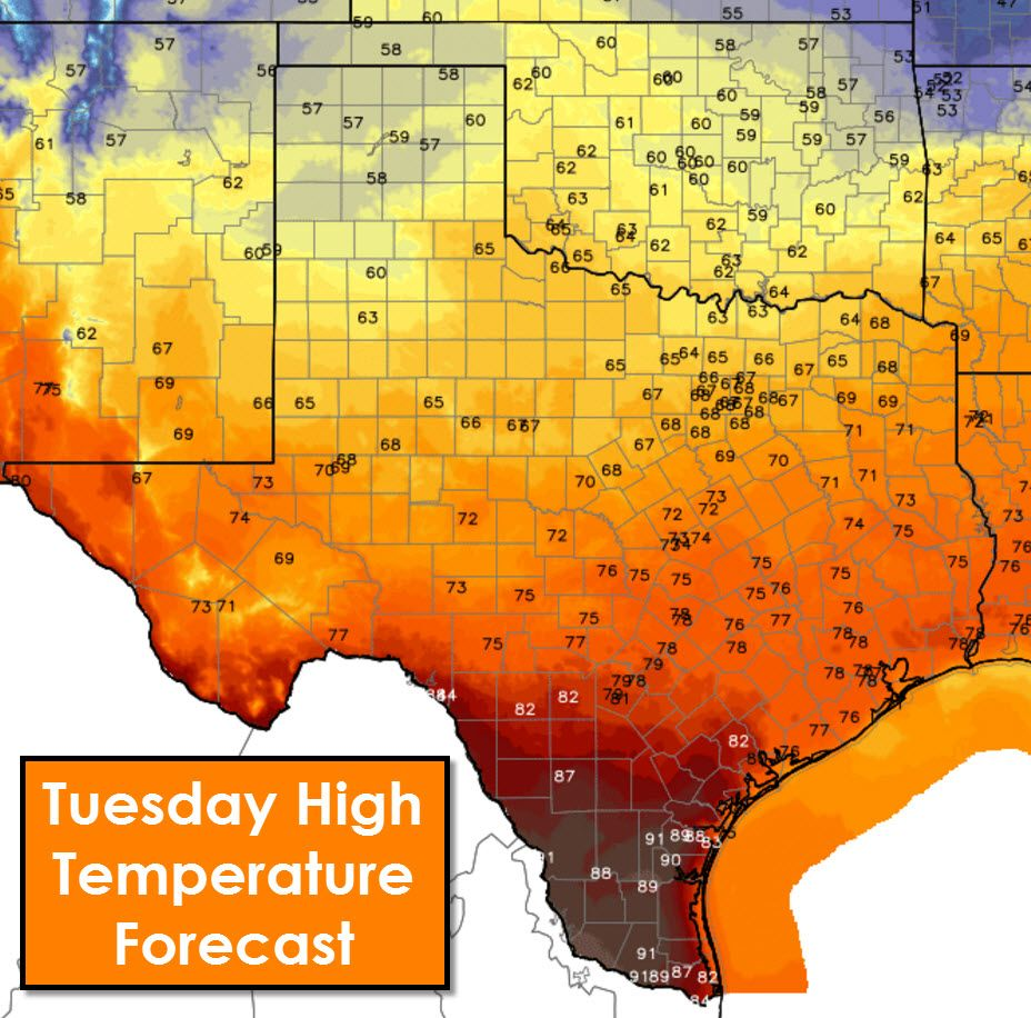 Mostly Dry With A Cool Front For Super Tuesday Texas Storm Weather Blog Texas Weather