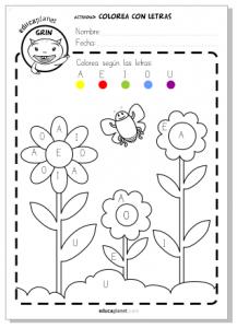 Primavera Actividad Flores Gratis Para Casa O Para El Aula My