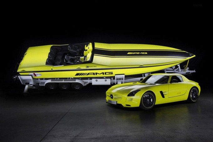 Mercedes Sls Amg Cigarette Racing Offs Sd Boat
