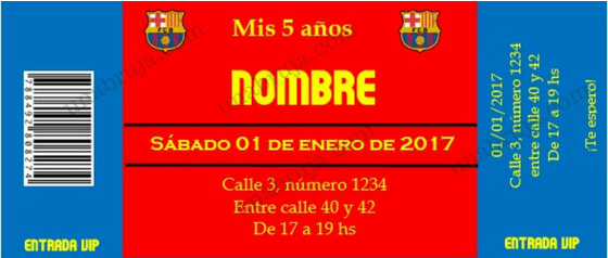 Hacele Un Cumpleaños Del Barcelona Tarjetas Invitacion
