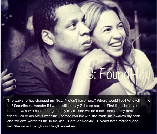 Jayz Shows Beyonce Love On Instagram She Saved Me Beyonce Quotes Jay Z Jay Z Quotes